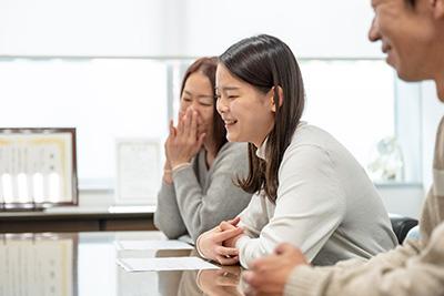 2021年度新入生 増田 彩花さんとご両親